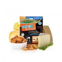 mX3 4 Cheeses Fondue and Bread Toasts - syrové fondue s krutónmi