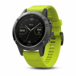 Garmin fénix 5 Grey, Yellow band
