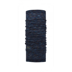 šatka Buff Wool Lightweight Multi stripes denim